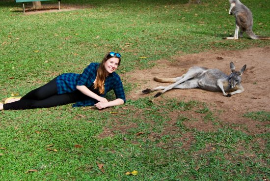 Australia Zoo: Posing with a chilled out too