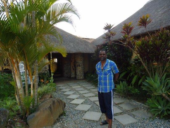Piggs Peak, Suazilandia: Accueil et entrée restaurant.