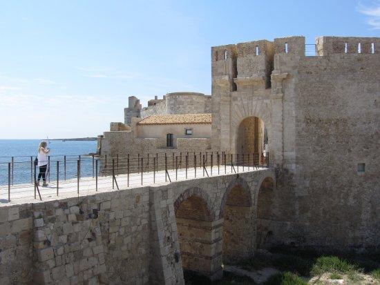 Castello Maniace: l'entrée