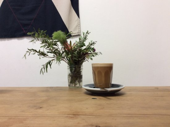 Horsham, Australien: Almond milk coffee