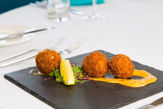 Wotter, UK: Our popular crab cakes