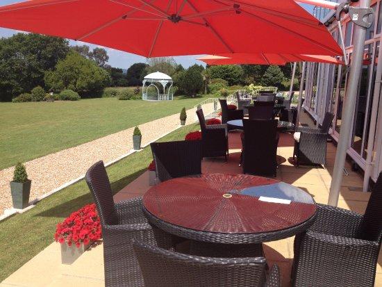 Yelverton, UK: Our suntrap terrace