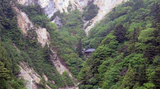 Ubayu Onsen: 1700年の歴史があるという。これほどの絶景は簡単にはお目にかかれるものではない。