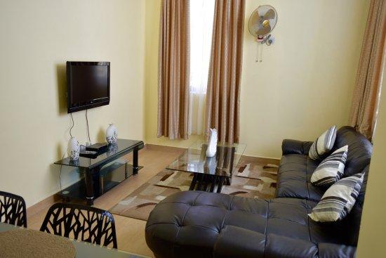 New Avon Apartments 2 Bedroom Living Room
