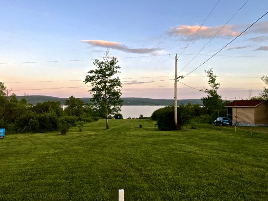 Baddeck, Canada: View from campground to water.
