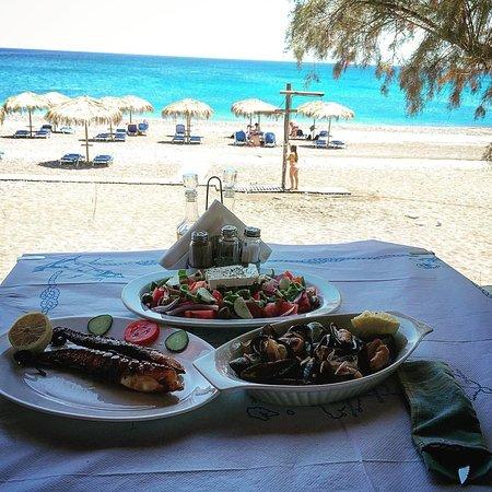 Gennadi, Yunanistan: Sea view with meze