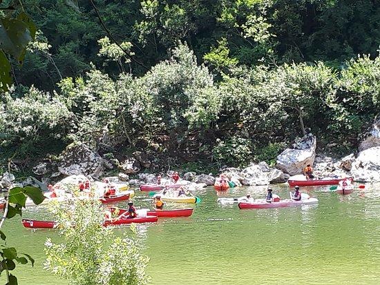 Sampzon, Frankreich: canoës