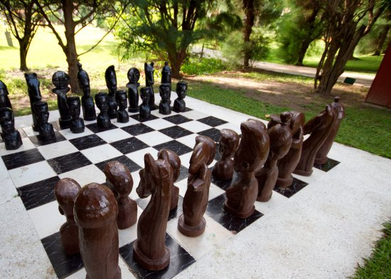 Kairaba Beach Hotel Lifesize Chess Board