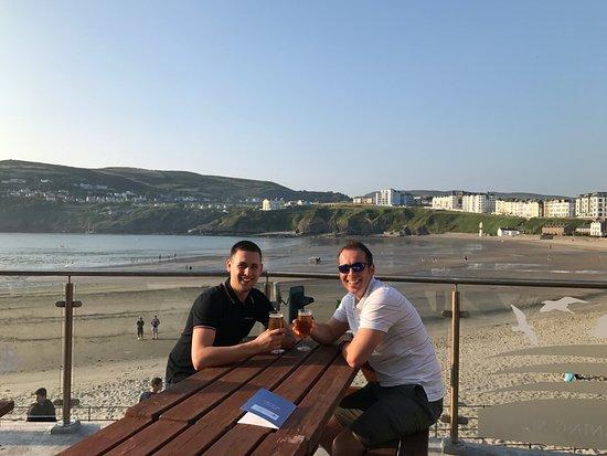 Port Erin, UK: Me and Steve