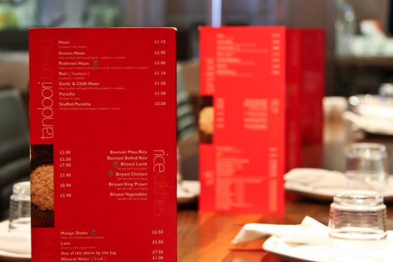 Southall, UK: An extensive menu that caters for all.