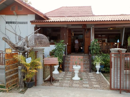 Champasak Town, Laos: INTRANCE OF NAKORN CAFE