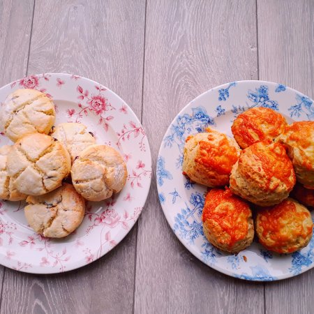 Brightlingsea, UK: Dairy Free Gluten Free Coconut & Cranberry Scones & Cheese Scones