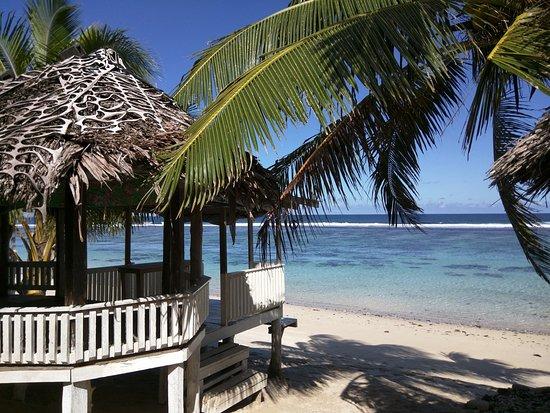 Saleapaga, Samoa: open beach fale