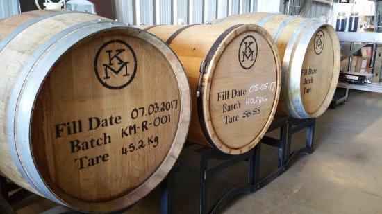 Bundaberg, Australia: Rum, aging away waiting for us to drink it.