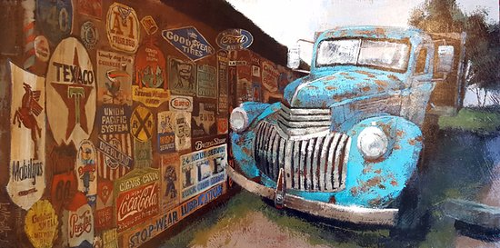 Round Top, TX: Painting by Martin Lambuth
