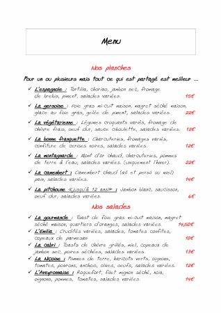 Ax-les-Thermes, Frankrike: Nos planches et salades