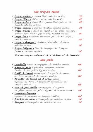 Ax-les-Thermes, Frankrike: Nos croques et nos plats