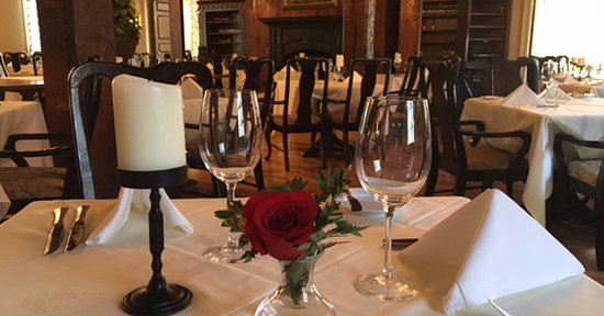 Old Mill Room dinner table