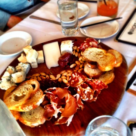 Woods Hole, MA: Cheese and charcuterie platters at Quicks Hole Tavern.