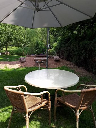 Saint Die des Vosges, France: Garden and you can enjoy your breeakfast here!