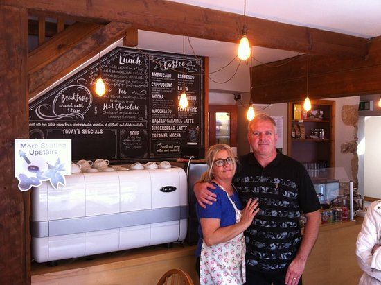 CoffeECO: Denise & Peter welcome you to our cafe in the beautiful Dales.