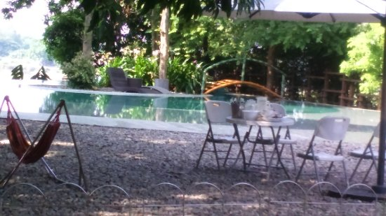 San Rafael, Philippines: pool and hammock