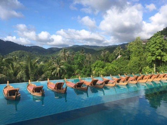 Santhiya Koh Phangan Resort Spa Infinity Pool At The Supreme Deluxe Complex