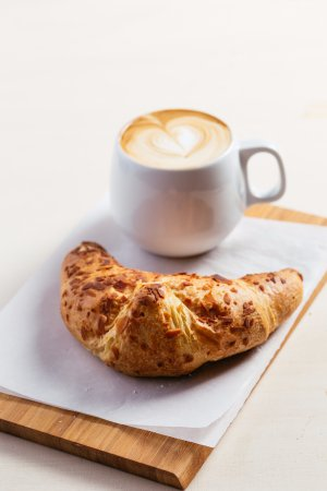 Bromley, UK: Croissant with latte