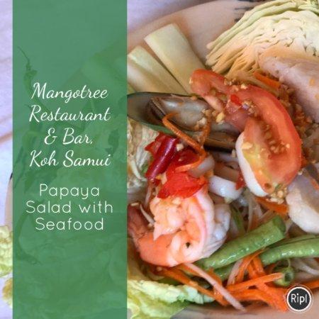 Lipa Noi, Thailand: Papaya Salad @mango tree restaurant & Bar, Koh Samui