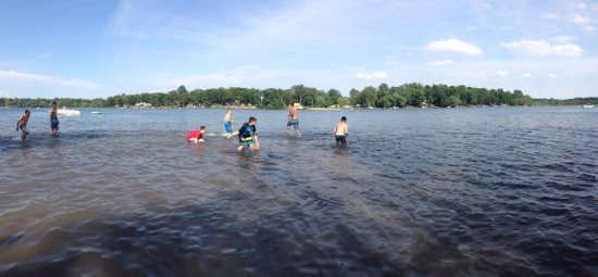 Chelsea, MI: Swimming at Portage Lake