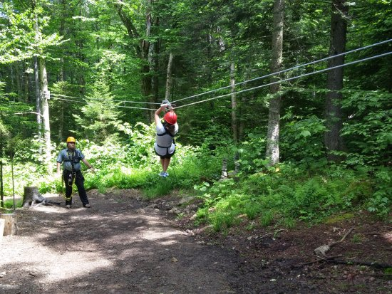 Bretton Woods, NH: Practice zip, to show you some skills.