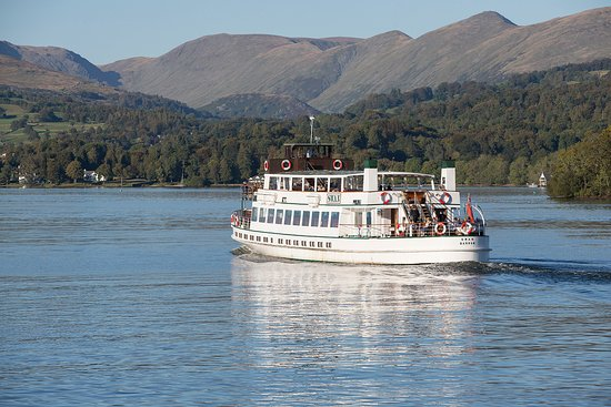 Bowness-on-Windermere, UK: Steamer MV Swan on the Red Cruise from Bowness to Ambleside. The journey takes just over 30 minu