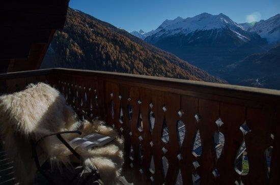 Saint-Luc, Suiza: Balcon chambre côté sud
