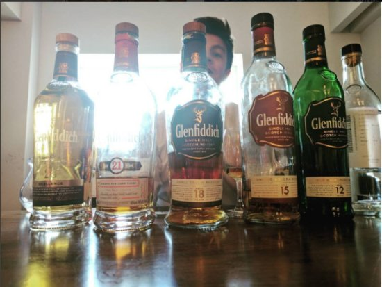 Dufftown, UK: Our tasting lineup