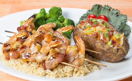 Whiskey Creek Wood Fire Grill: Bacon-Wrapped Shrimp