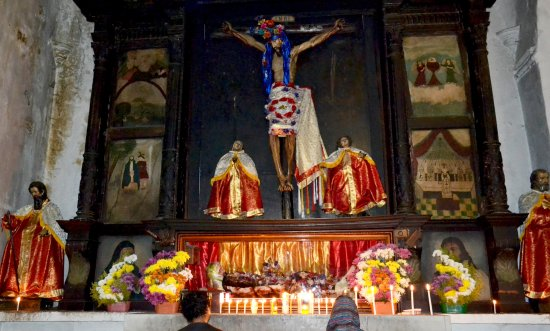 Santiago Atitlan, Guatemala: Iglesia católica Santiago Apóstol (capilla lateral)