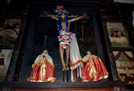 Santiago Atitlan, Guatemala: Iglesia católica Santiago Apóstol (capilla lateral, detalle)