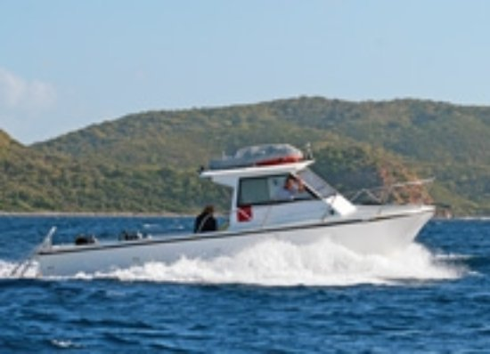 Road Town, Tortola: Royal Blue, 30 foot Island Hopper