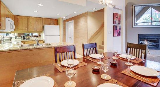 Powders Edge: Open concept kitchen in each unit.