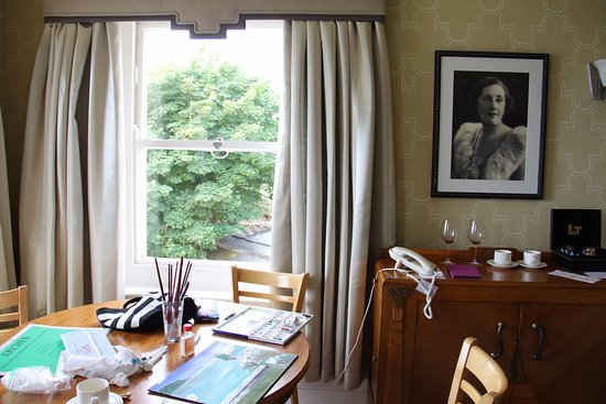 The Grand Hotel: The Agatha Christie Suite is roomy enough for an artist