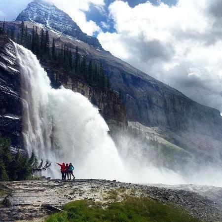 Canadian Rockies, Kanada: Emperor Falls (km 16 of the Berg Lake trail)