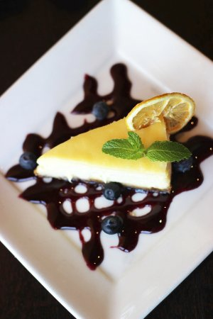 Alexandria, MN: Lemon Cheesecake with Blueberry Caramel
