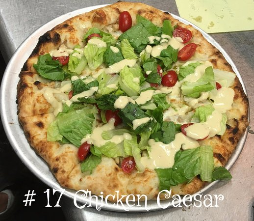 Siloam Springs, AR: Our Chicken Caesar Pizza.