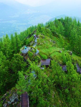 Burqin County, Cina: Top of the tower