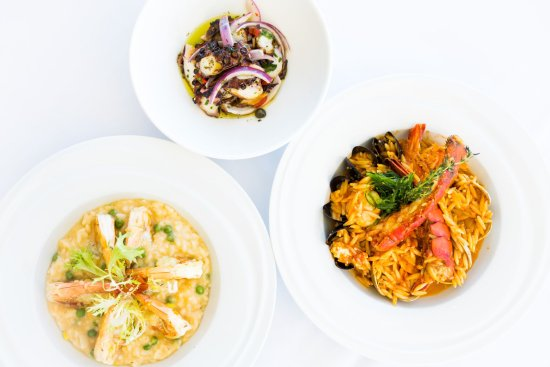 Weehawken, NJ: Seafood and Orzo, Grilled Octopus, and Shrimp Risotto
