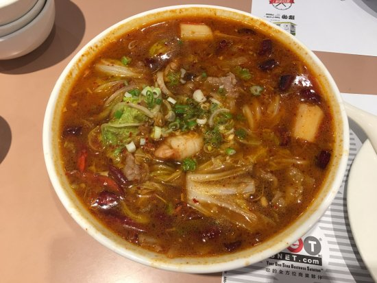 Rowland Heights, Califórnia: 三鮮炒馬刀削麵