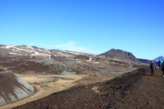 Bifrost, Ισλανδία: Rundweg auf dem Kraterrand
