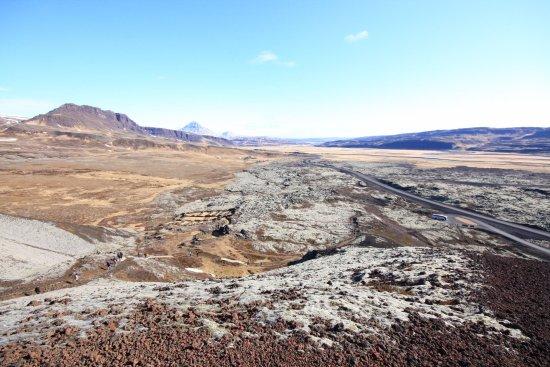 Bifrost, Ισλανδία: Aussicht vom Kraterrand ostwärts