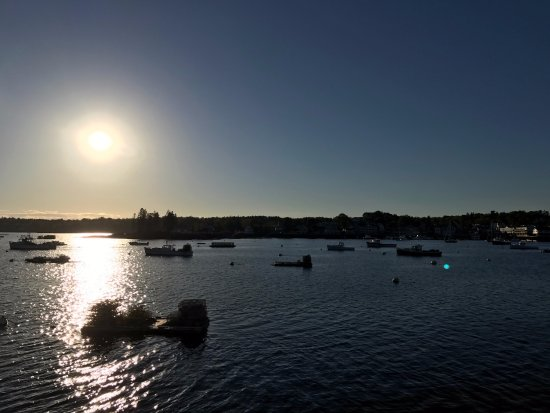 Boothbay Harbor at sunset