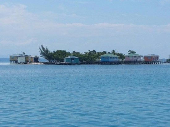 Caye Caulker, Belize: Ragga Caye where you will spend your second night